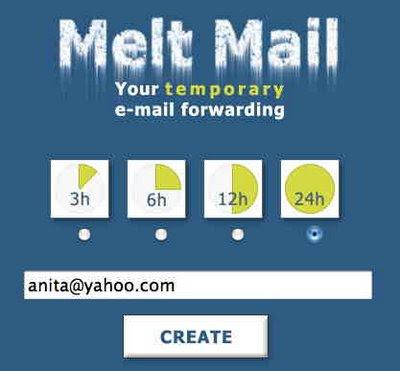 MeltMail - tillfällig epostadress