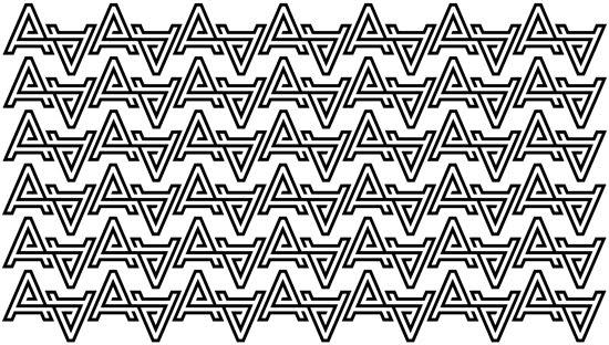 Aroha Silhouettes logo Nubby Twiglet pattern