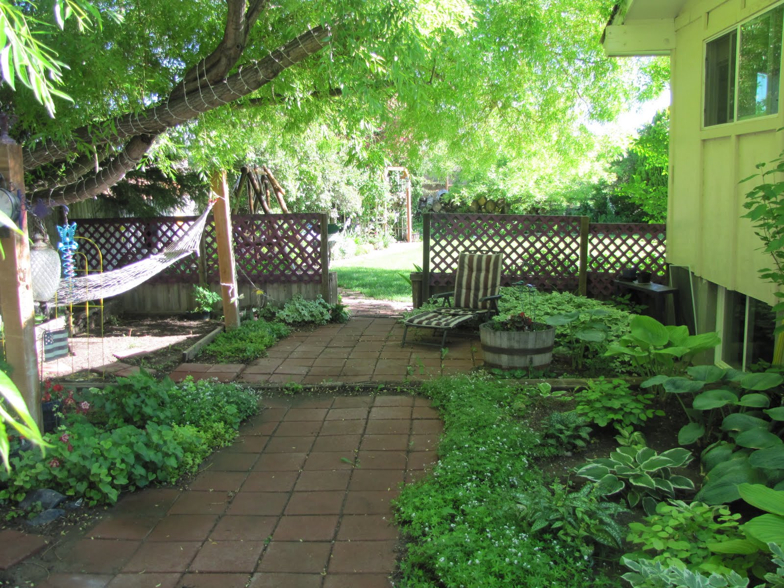 Buckets of gardening ideas side yard and pond area for Landscape gardening company