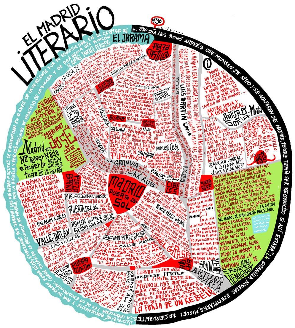 El blog de Miguel Calvillo Mapa de citas literarias de Madrid