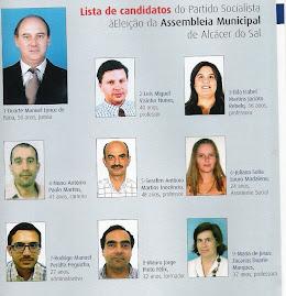 Candidatos PS à Eleição Assembleia Municipal de ALCÁCER DO SAL