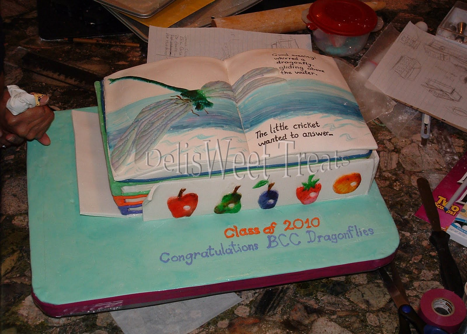 Delisweet Treats  Preschool Dragonfly Themed Graduation Cake