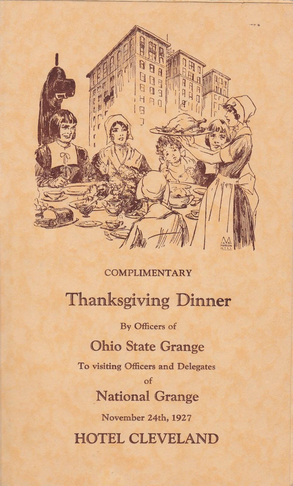 Madeline S Memories Thanksgiving Dinner 1927