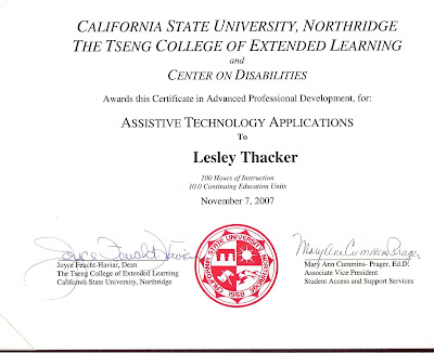 Assistive Technology Applications Certificate