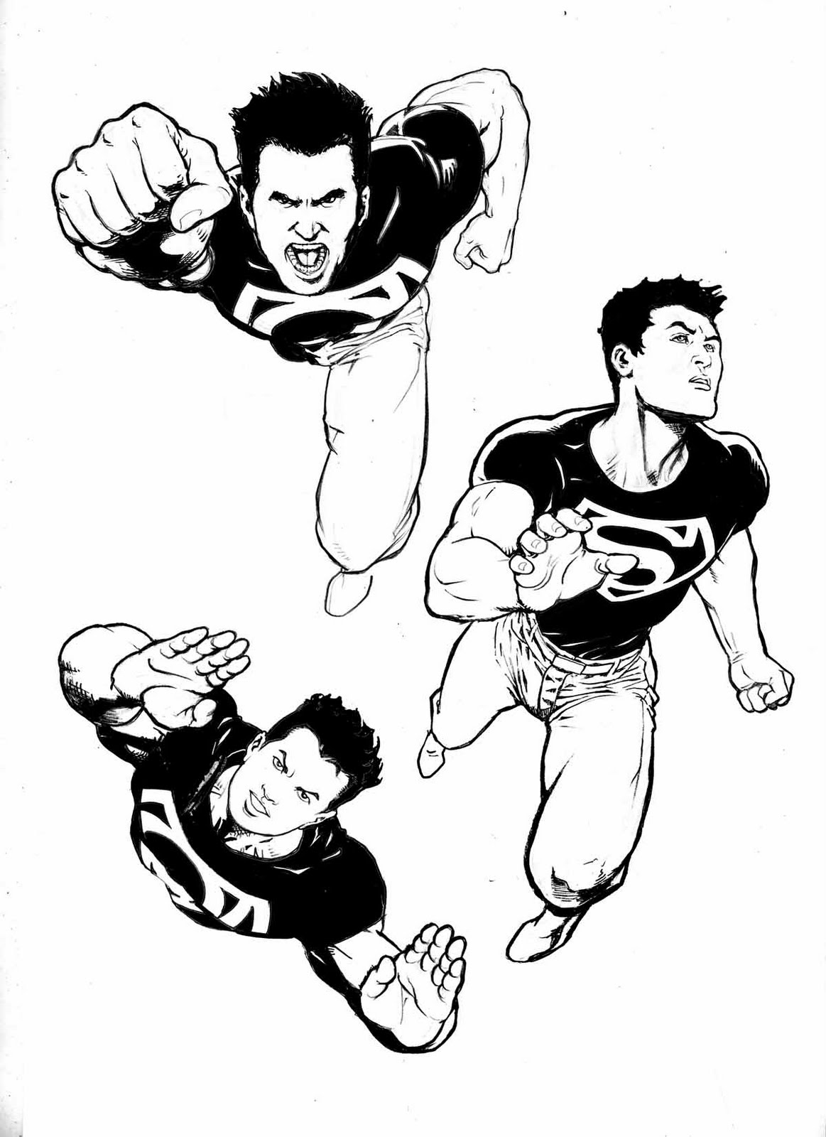 super boy coloring pages - photo#16