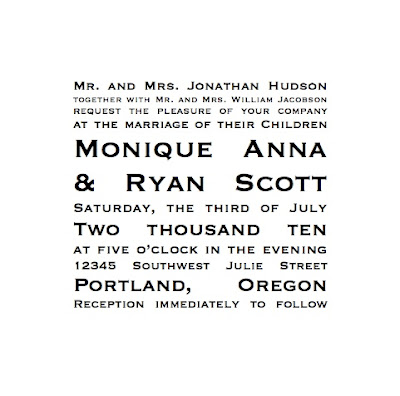 wedding invitation kit or DIY wedding invitations by using unique fonts