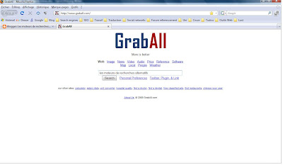la page d'accueil de grab all