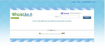 la page d'accueil de who is like it