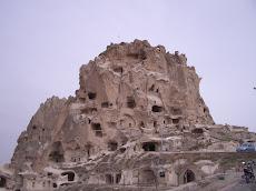de citadel van Uçhisar: de 'kale'