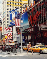Times Square, New York City. The local man,