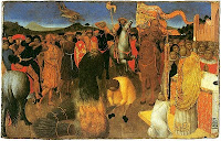 Burning of a heretic--Sassetta--Melburn museum
