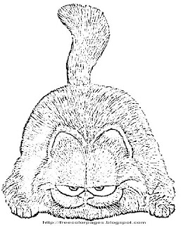 Printable Coloring Pages-Garfield Coloring Pages | Coloring Pages