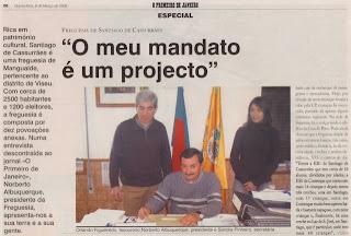 Foto digitalizada do jornal