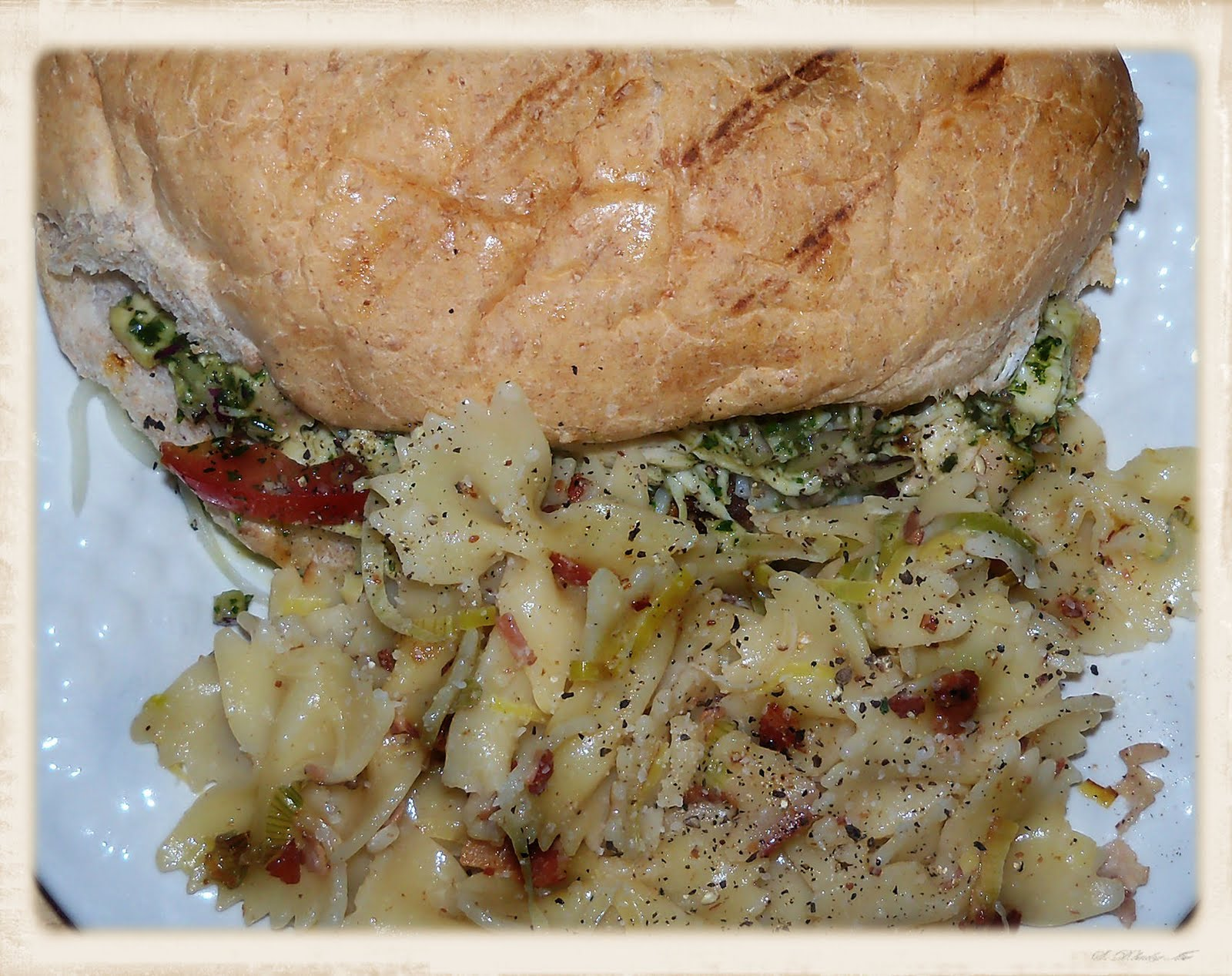 ... the Weekend: Chicken Parm Salad Subs and Pasta with Pancetta and Leeks