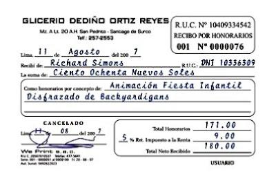 Recibos De Pagos De La Gobernacion De Aragua