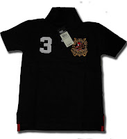 POLO No. 3 Boy Tee Black