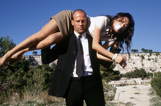 Jason Statham and Qi Shu in The Transporter