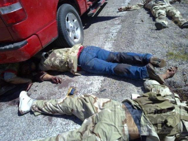 Ocho sicarios y un marino mueren en enfrentamientos en México
