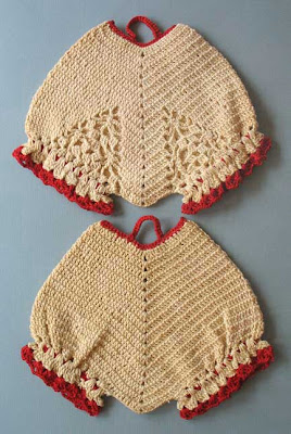 vintage crochet potholder panties