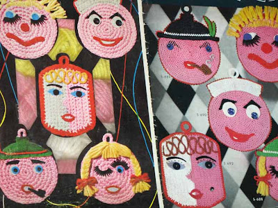 funny face potholders