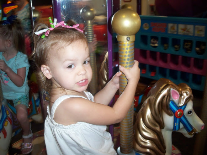 Maddy 1st trip to Chuck E Cheese