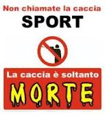 No alla caccia per sport!