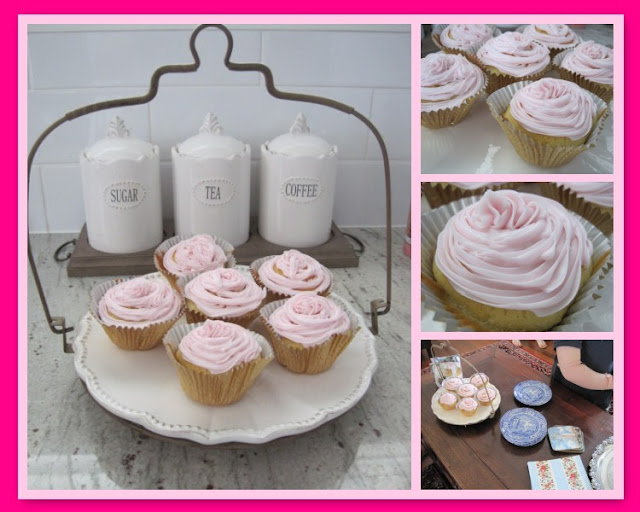 Giving Thanks For..., Jo Malone candle, Mosaic Monday, Mother's Day, Roslyn Trio, Yorkshire Tea, Spode cups, pink cupcakes