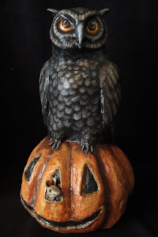 Owl on the Pumpkin