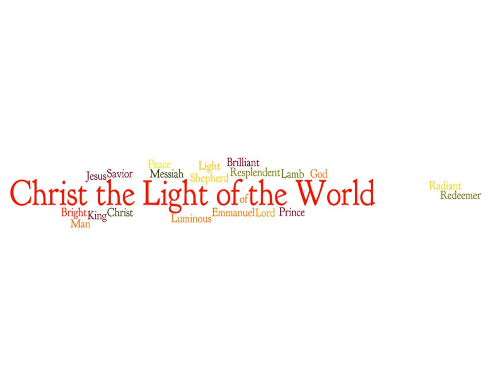 Elliott Music Studio: Christ the Light of the World: Devotional ...