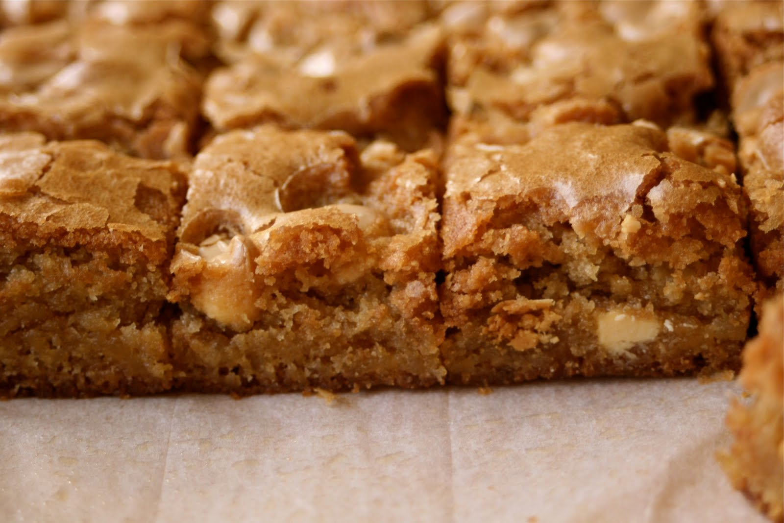 Carmel Corn Blondies Recipe — Dishmaps
