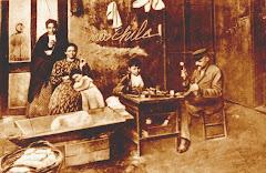 ZAPATERO Y LAVANDERA EN LA PAMPA, FOTO DE 1900
