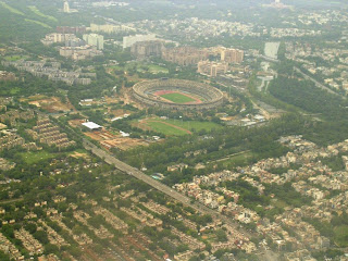 aerial view of the commonwealth games stadium