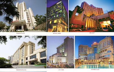 Leela Gurgaon, Galaxy Gurgaon, Fortune Select, Gurgaon, Crowne Plaza Gurgaon, Park Premier, Gurgaon, Park Plaza Gurgaon