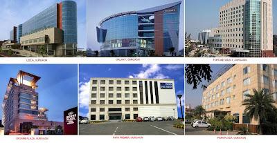 Ramada Plaza, Mosaic Noida, The Lalit, The Metropolitan, City Park, Crowne Plaza
