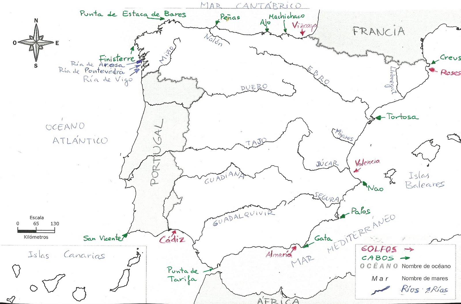 PZ C mapa espaa politico