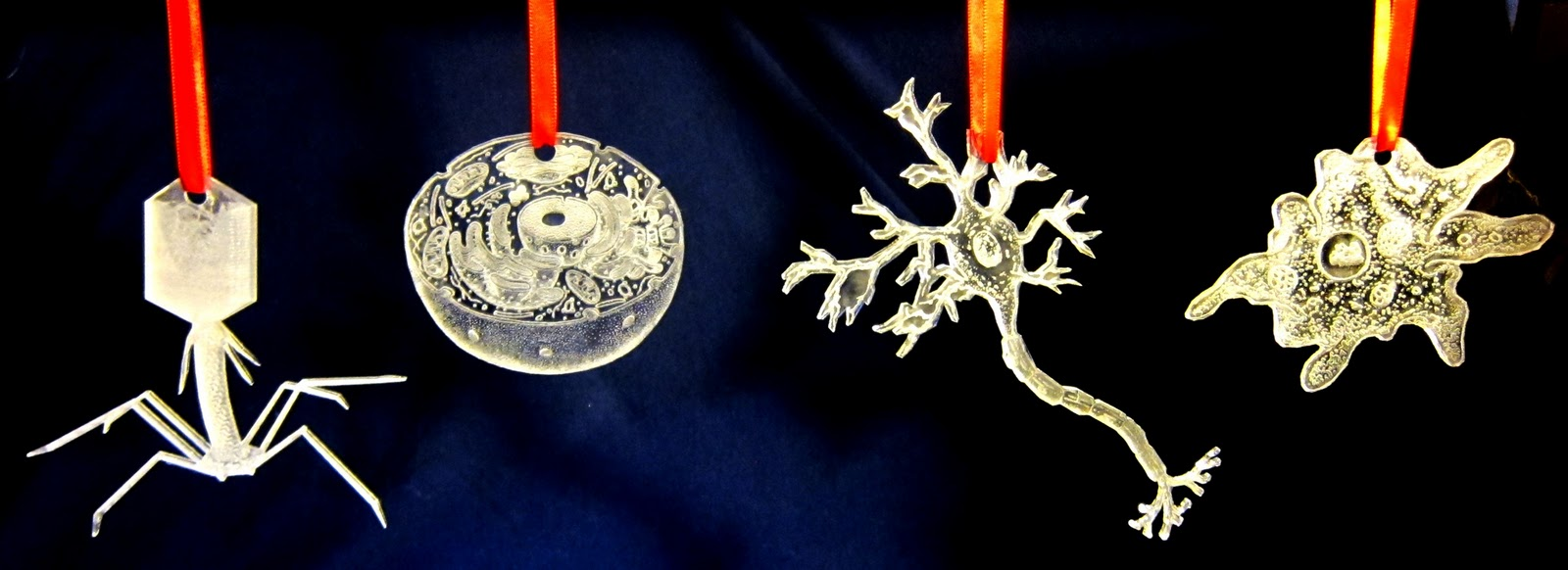 Themed christmas ornaments - The Micro Organisms Ornaments