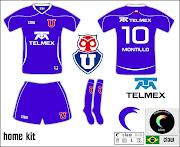 Para fechar a série da Libertadores 2010 os kits da Universidad de Chile, .