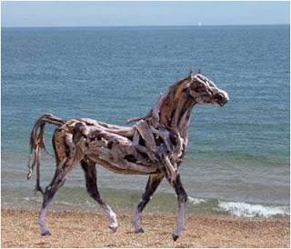 Cavalo na praia