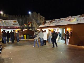 Foto de algumas tendas da feira do Chocolate
