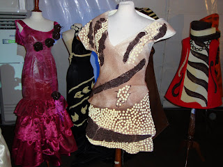 Vestidos de festa decorados com Chocolate