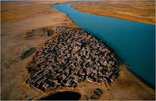 Aldeia perto do Rio Niger, Mali