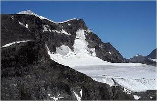 Glaciar na península de Kola