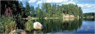 paisagem linda da Laponia