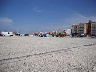 Praia do Pedrogão - Foto do parque de estacionamento do lado sul da praia