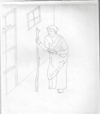 Beggar pencil sketch