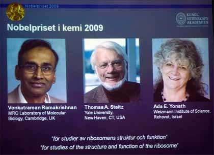 Premio Nobel de Química 2009