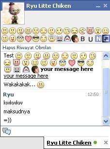 facebook chat list display