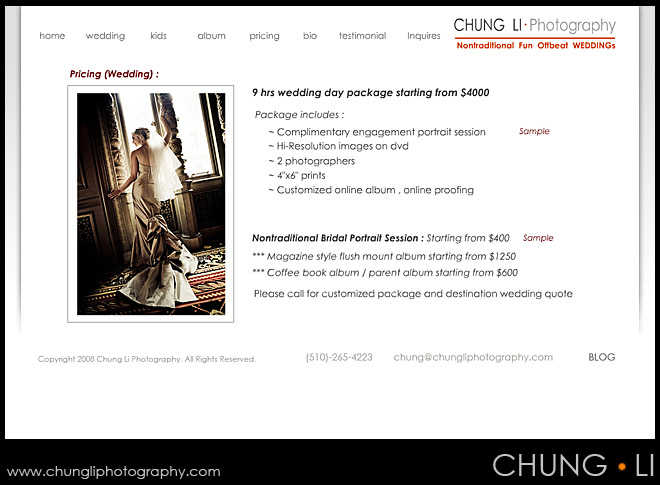 chung li photography new package price