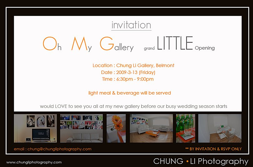 chung li wedding photography grand opening