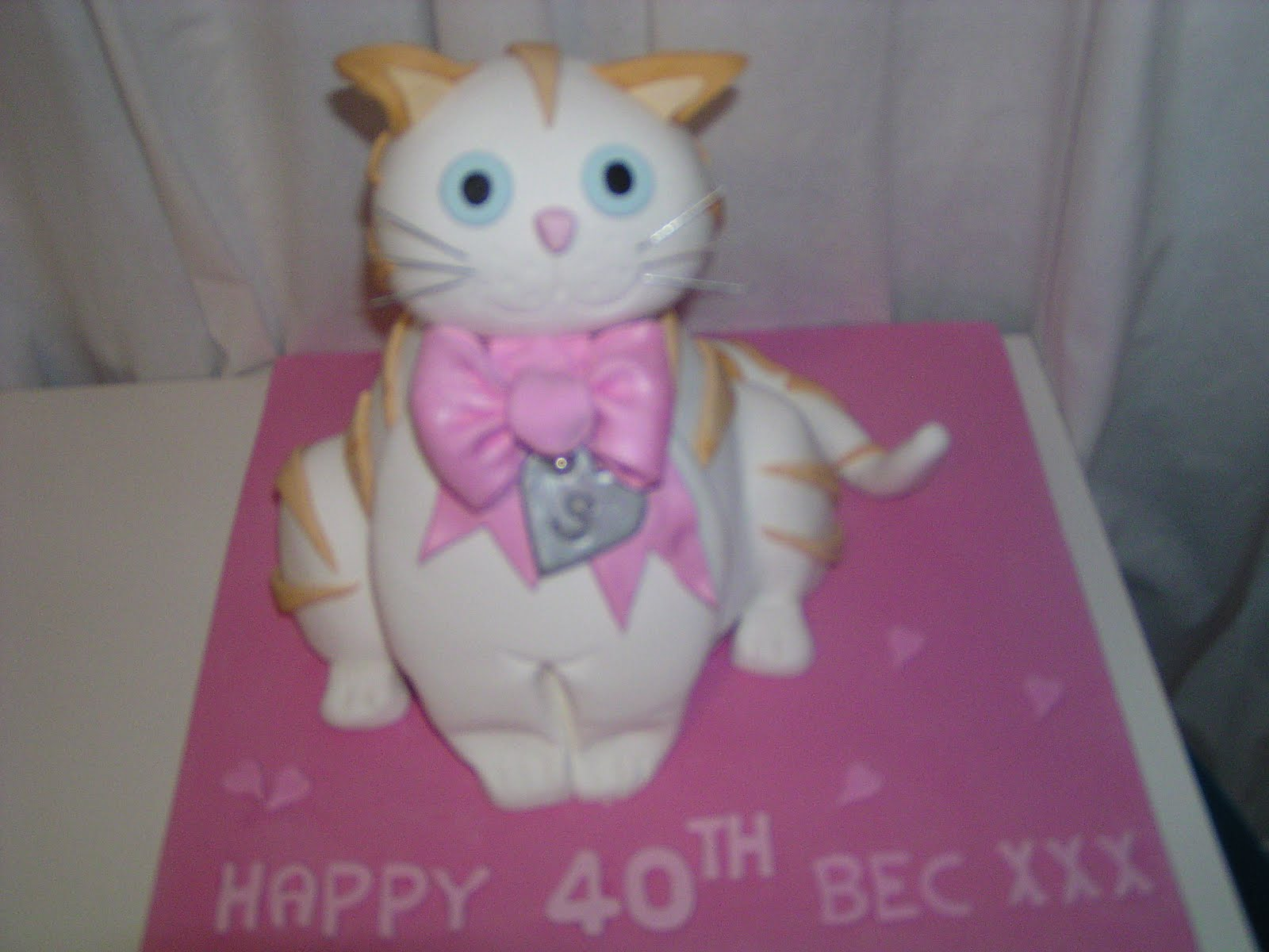 CAKE IT SWEET: Cat Birthday Cake